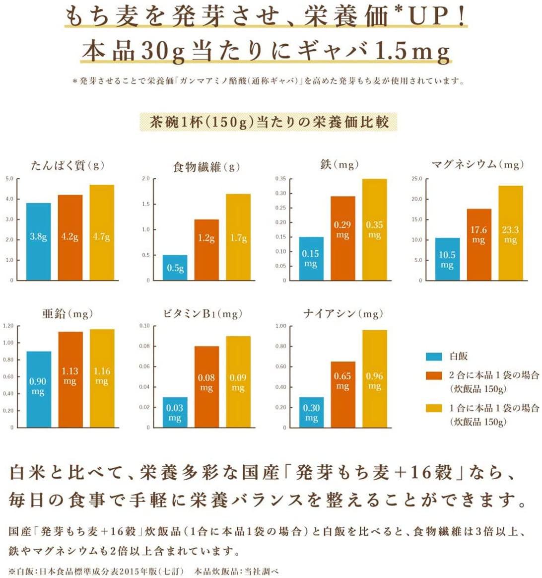 【定期購入】 国産「発芽もち麦+16穀」450g(30g×15)