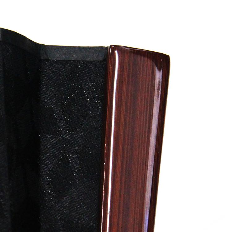 紋様ブラック扇子セット (全3種類)