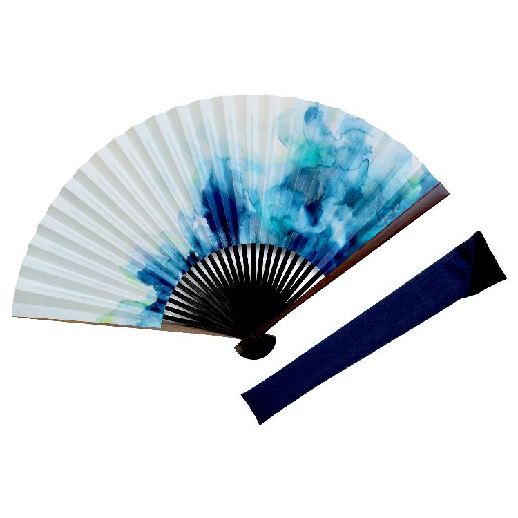 粋彩 青海波 扇子セット