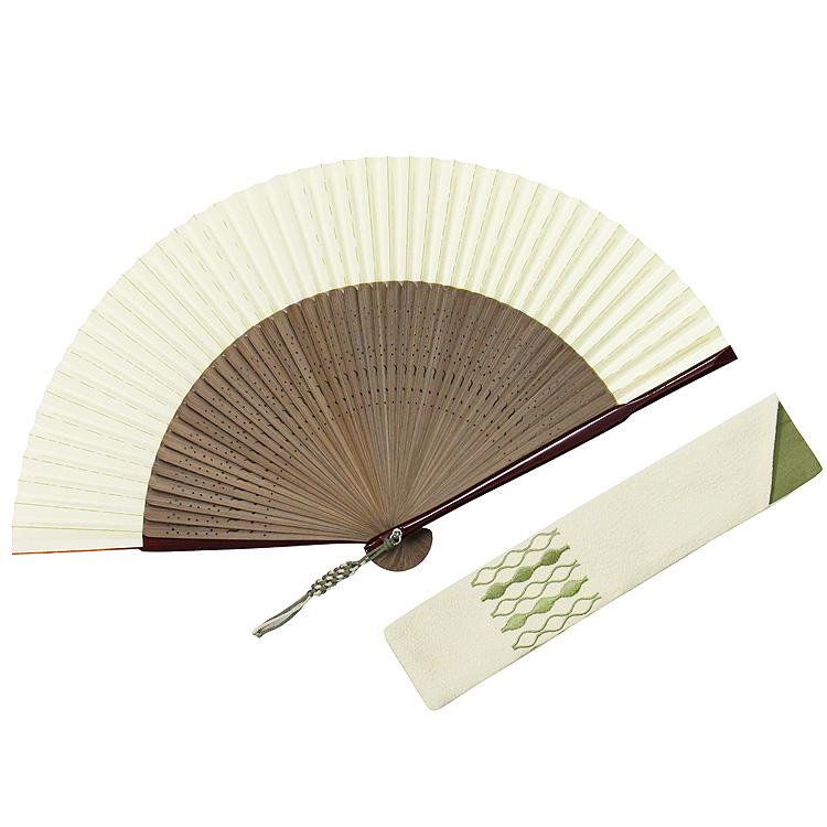 脇彩(わきいろ)小紋扇子セット-婦人- (全3種類)