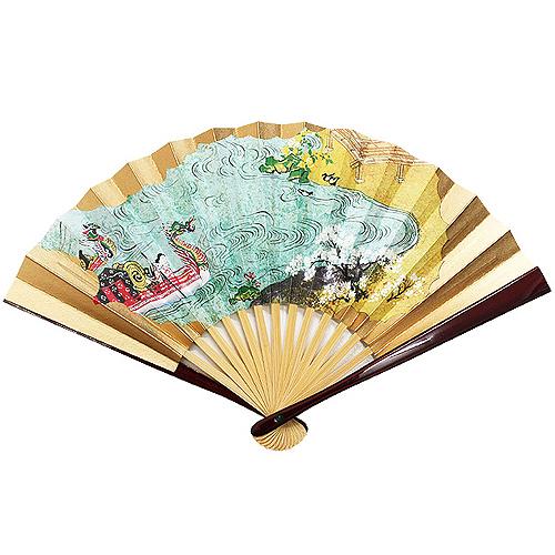 干支茶扇子 「龍頭舟(りゅうとうせん)」 5寸