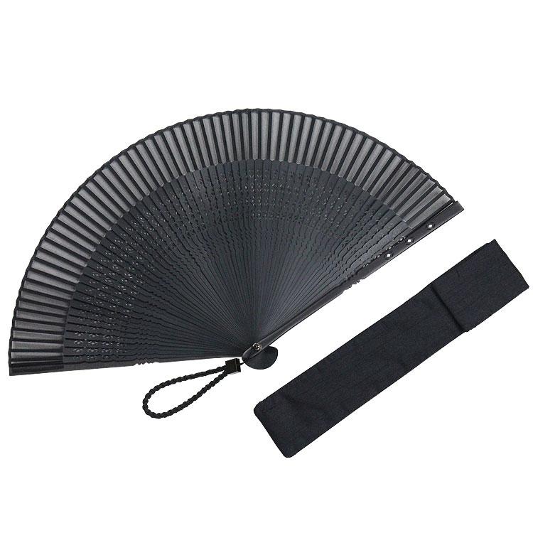 螺鈿親黒檀(らでんおやこくたん)60間扇子セット 紳士 (全2種類)