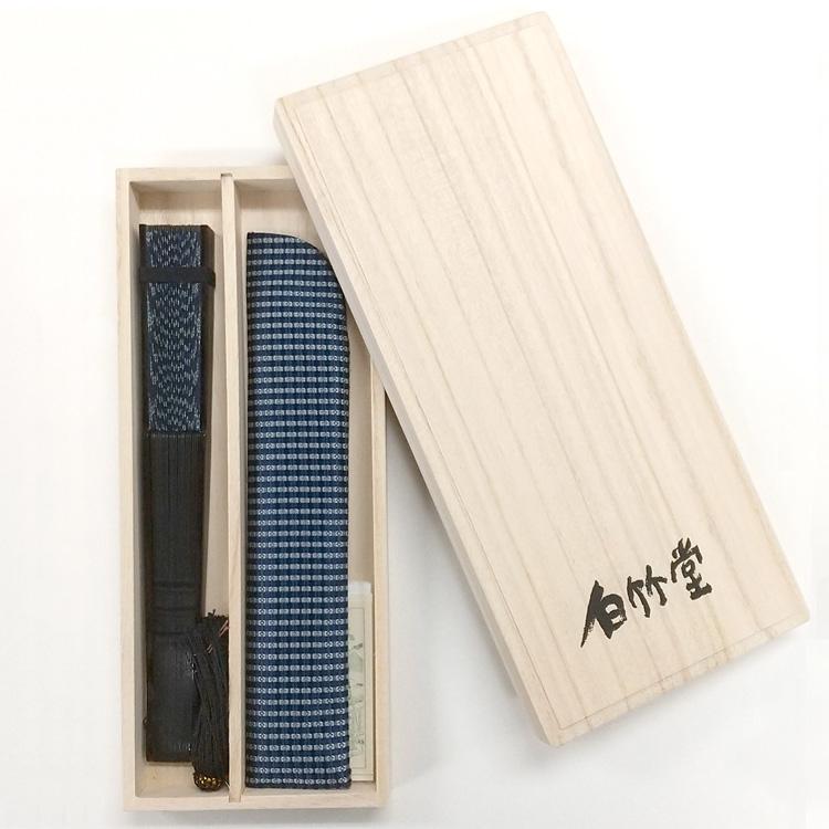 艶錦(あでにしき) 黒染 扇子セット (全6種類)