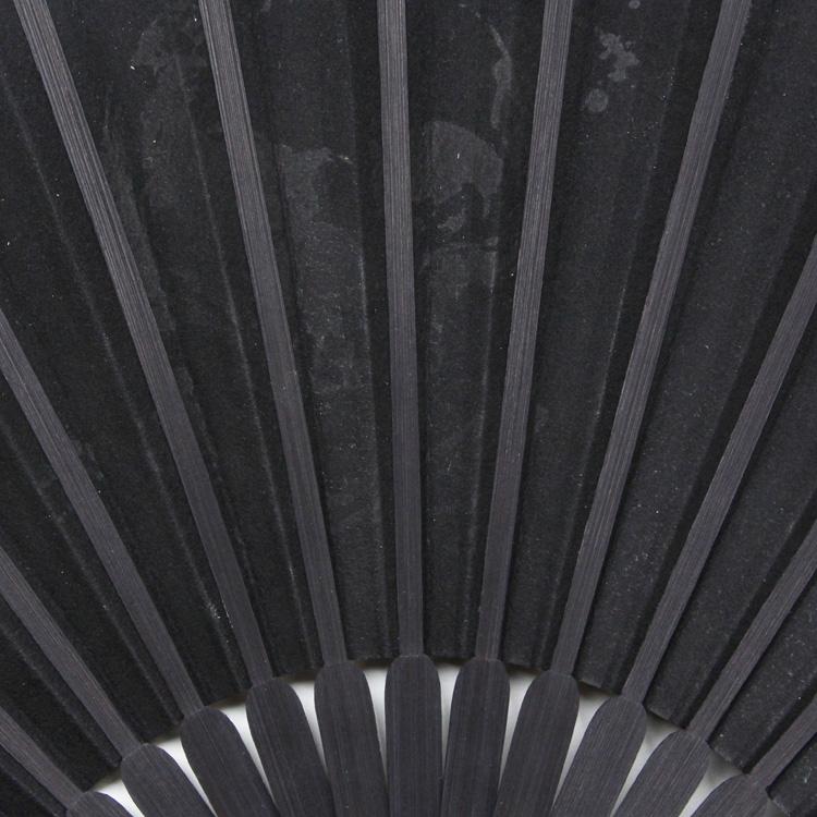 【本革扇子】ブラックディアスキン 扇子セット (全3種類)