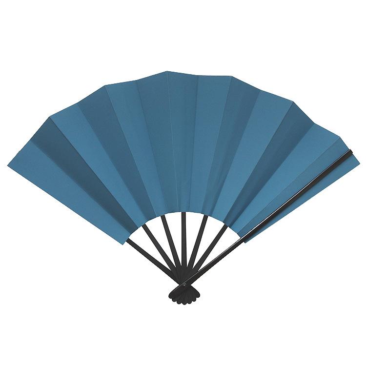 縁起物飾り扇子 「青富士(あおふじ)」 九寸