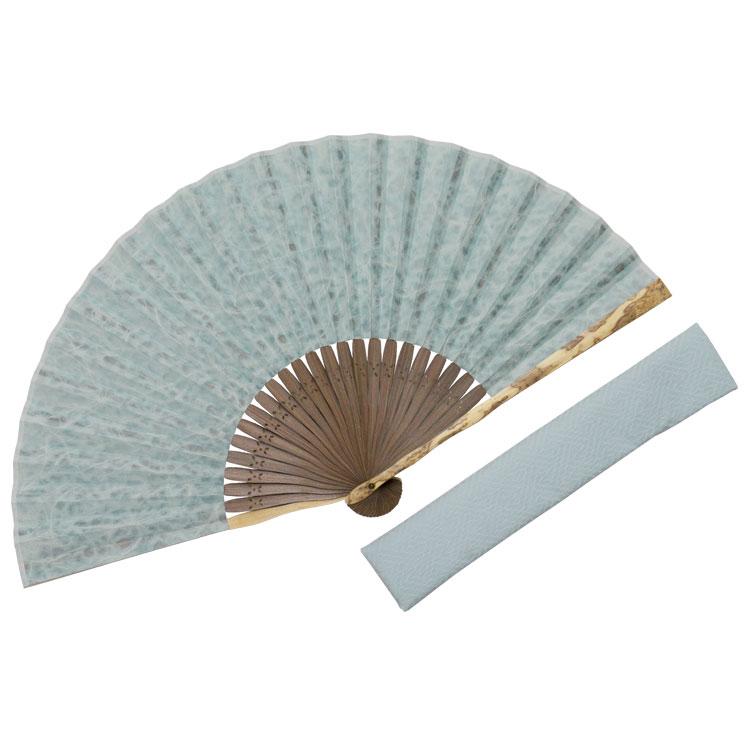 紋竹落水和紙 扇子セット (全2種類)