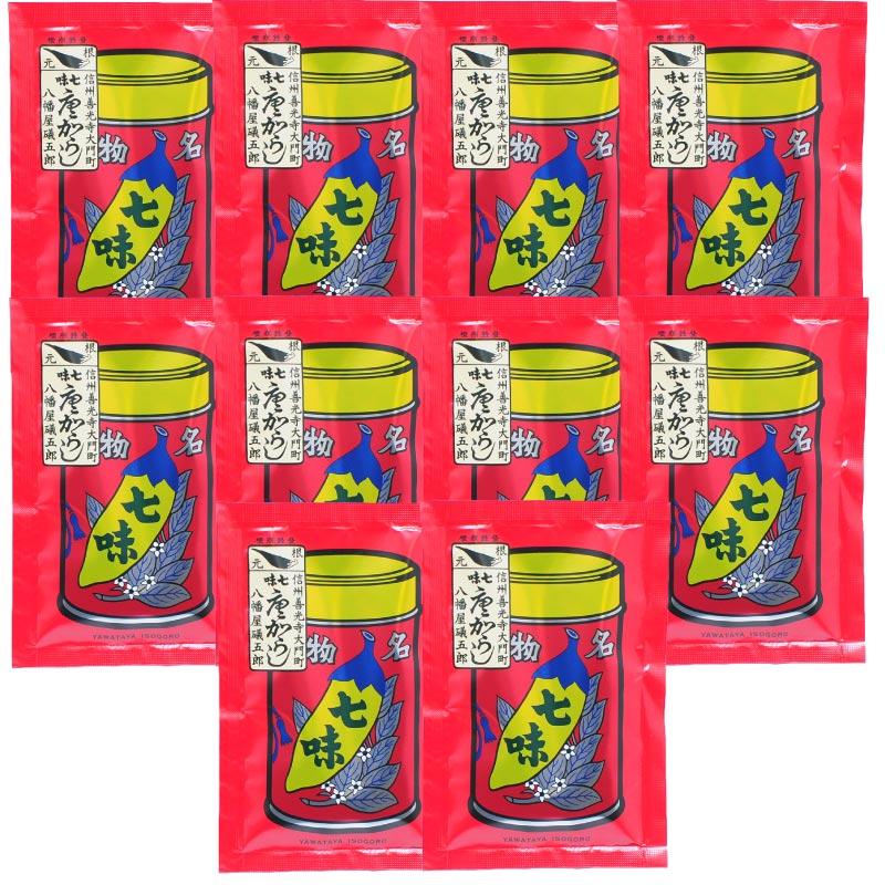 【八幡屋礒五郎】七味唐辛子/袋入り 18g x 10袋