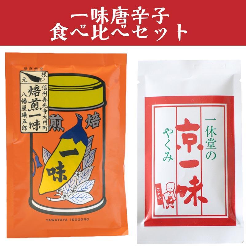 八幡屋礒五郎 一味唐辛子 と一休堂 京一味 食べ比べセット