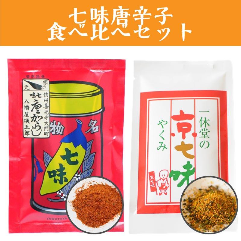 八幡屋礒五郎 七味唐辛子 と一休堂 京七味 食べ比べセット
