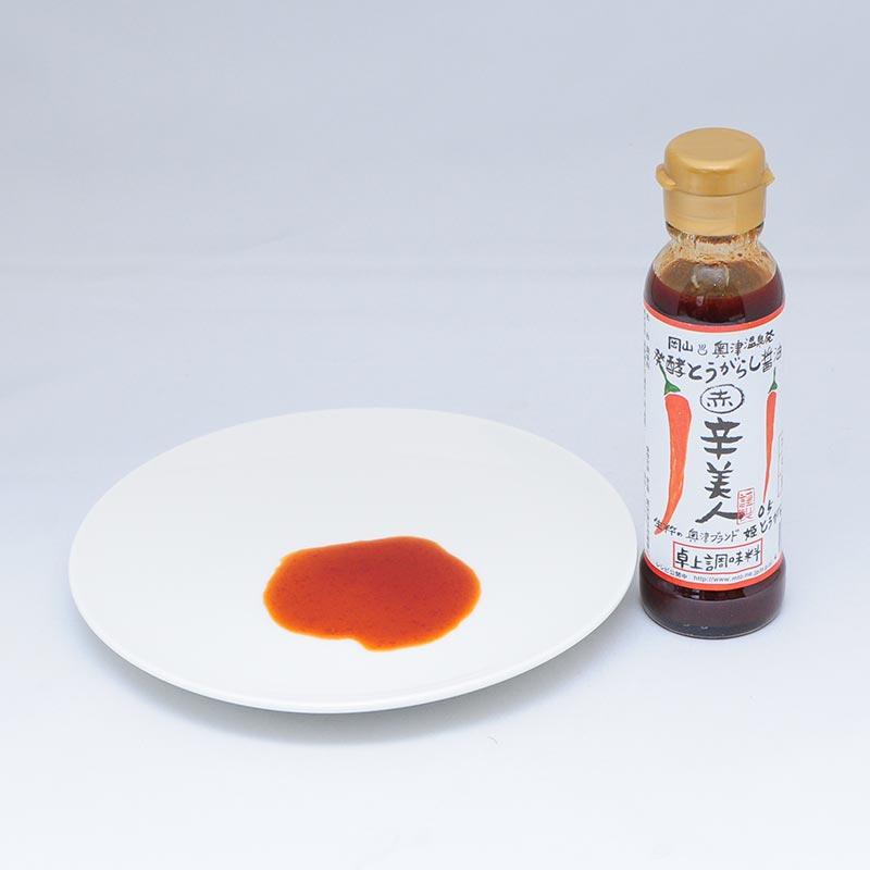 辛美人発酵とうがらし醤油〔赤〕120ml x 10本