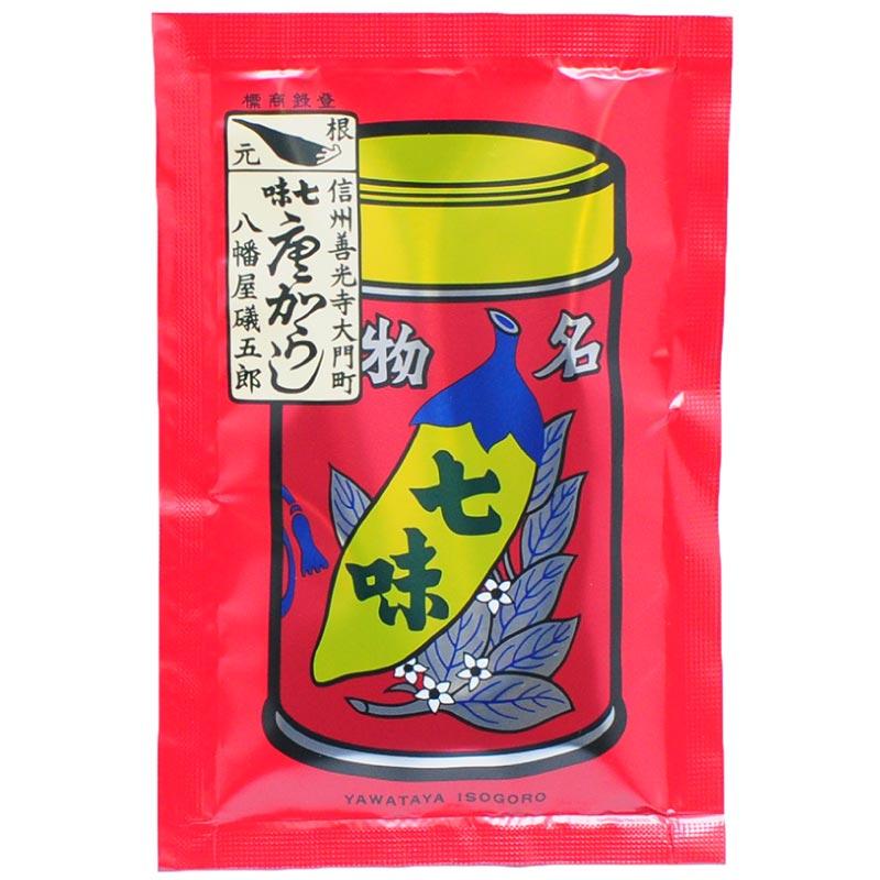 【八幡屋礒五郎】七味唐辛子 袋入り 18g