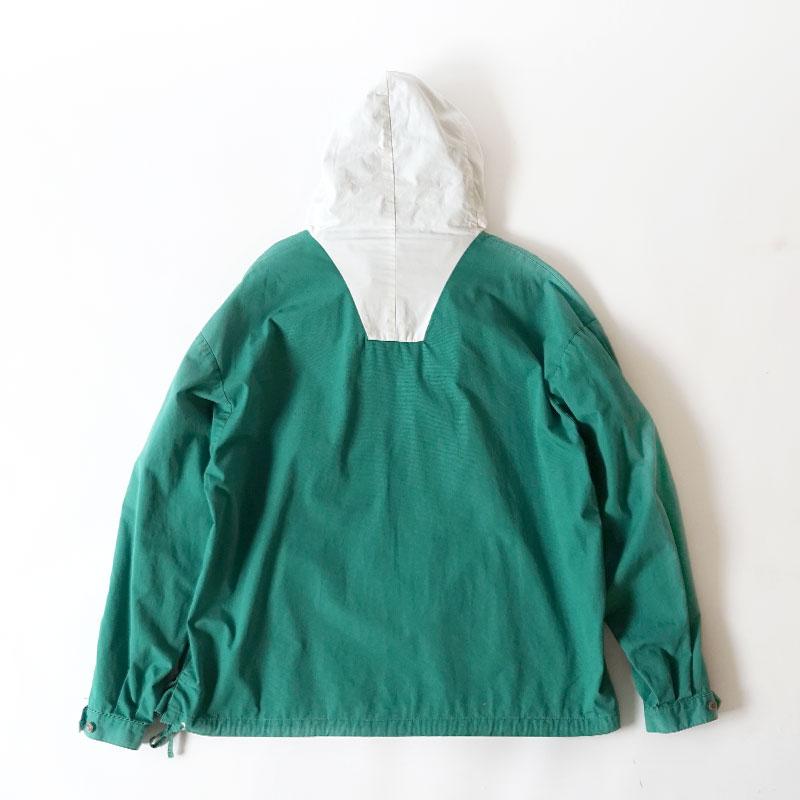 J Crew / 1990's Vintage / 2-Tone Cotton Anorak Parka / X-Large