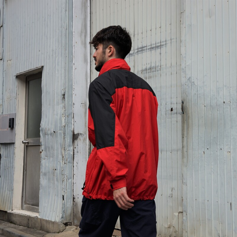 THE NORTH FACE / 1990's Vintage / Nylon Pullover/ Large / Black×Red / Used