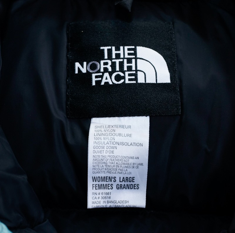 THE NORTH FACE / 1990's Vintage / Nuptse Down Jacket / Ice Teal
