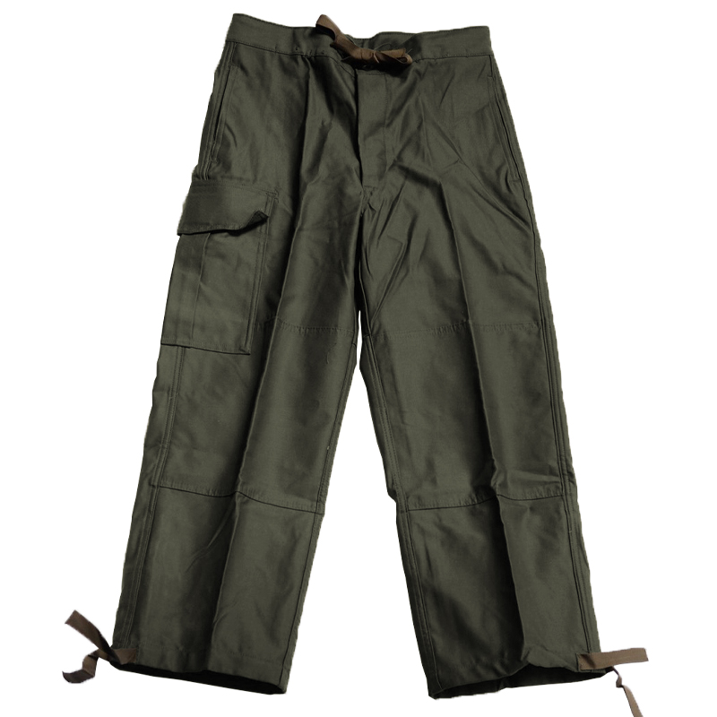 Belgium Military / 1980's Deadstock / Cotton Field Pants