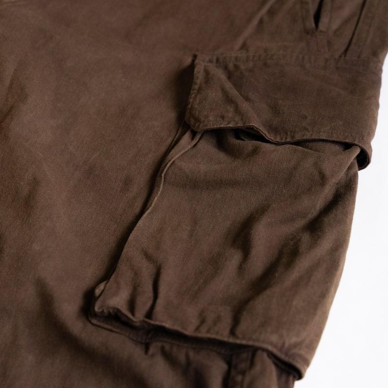 奄美大島 泥染 × hallelu / French Military / 1960's Deadstock / M-47 Cargo Pants