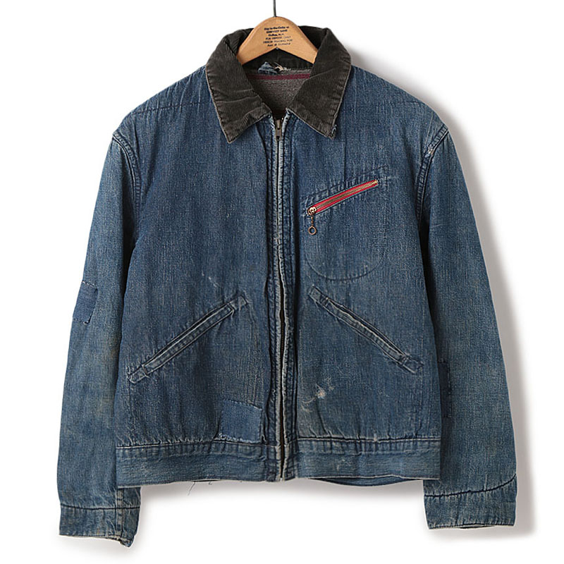 Used / 1960's Vintage Denim Jacket / M-Size
