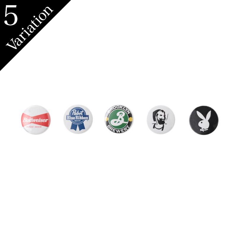 Pins / Rabbit Head, Budweiser, Pabst Blue Ribbon, Brooklyn Brewery, Zig Zag