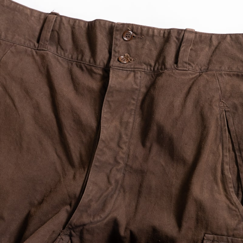 奄美大島 泥染 × hallelu / French Military / 1950's Deadstock / M-47 Cargo Pants