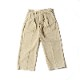 French Military / 1950's Vintage / Two-tuck Cotton Chino Pants / 84M / Khaki / Used