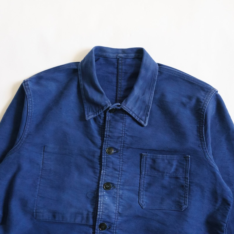 French Work / Le Calle / 1940'sVintage / Moleskin Work Jacket / Medium相当