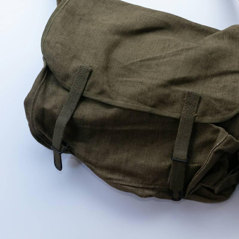 French Military / 1940'sDeadstock / Linen Shoulder Bag