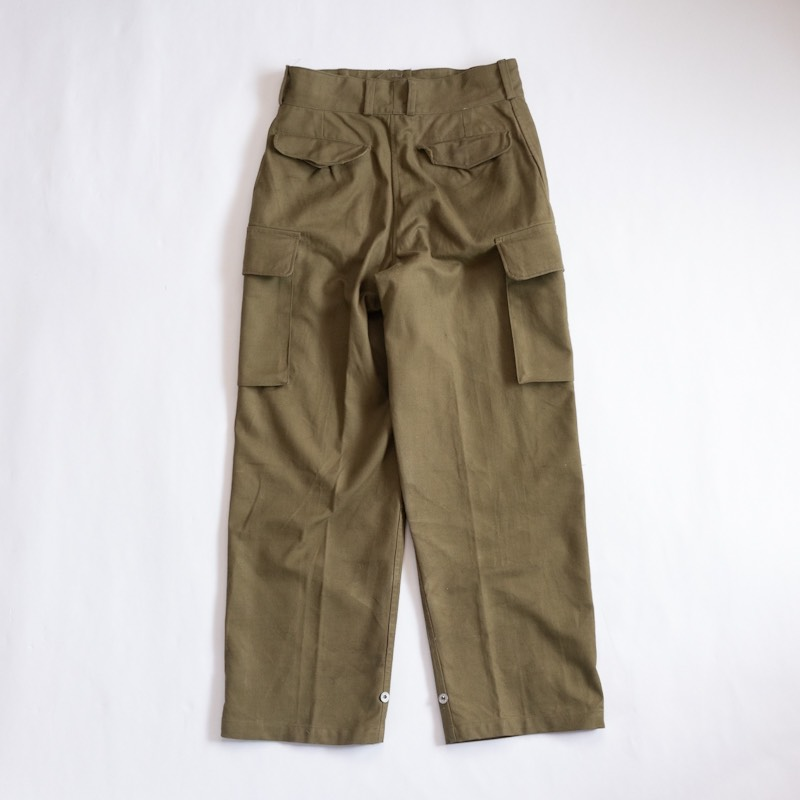 French Military / 1940's Deadstock / M-47 Cargo Pants / Metal button / Non Wash