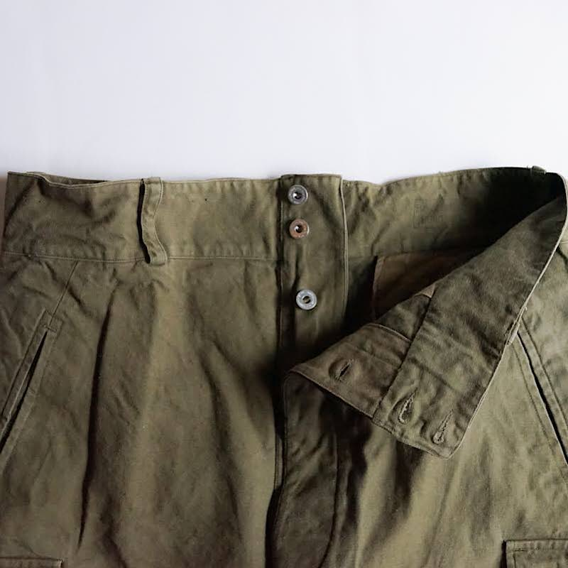 French Military / 1940's Vintage / M-47 Cargo Pants / 前期モデル / Metal button / One Wash / Size:1-5