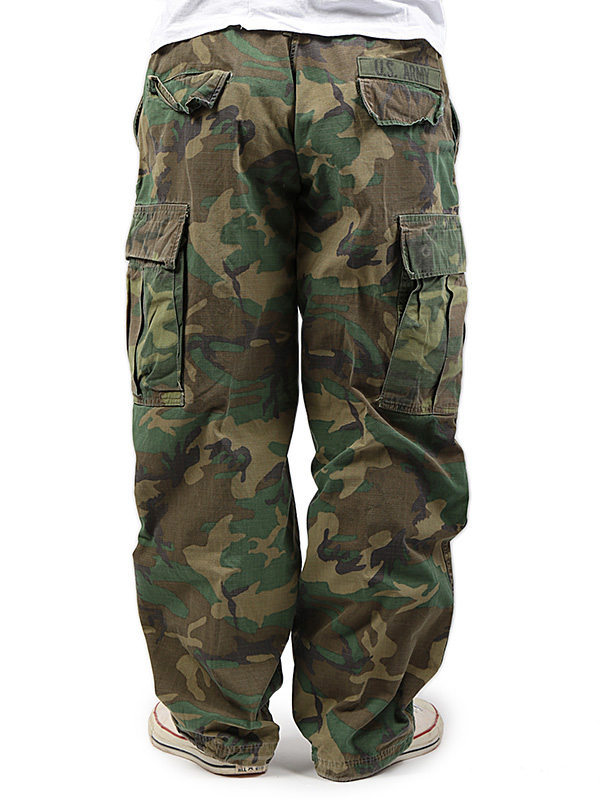 Used / US Military / 1960's / Rip-Stop Jungle Fatigue Pants / 34inch