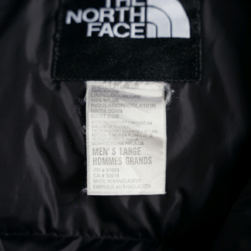 THE NORTH FACE / 1990's Vintage / Nuptse Down Jacket / Large / Iceteal