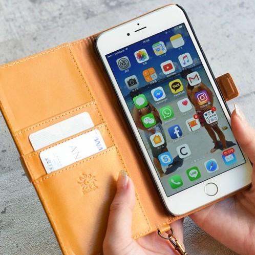 手帳型 牛革iPhoneケース Black Android スマホケース 12 SE2 11 Pro XR XS Max X 8,7 plus【名入れ可】