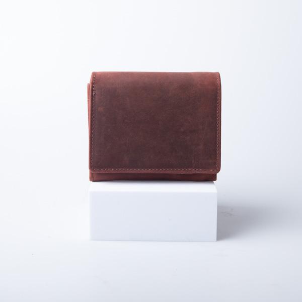 Folio 二つ折り財布 Navy 本革 メンズ レディース 【名入れ可】