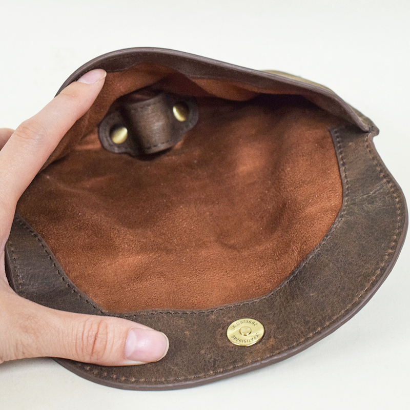眼鏡ケース Brown サングラス ケース メンズ レディース 牛革【名入れ可】