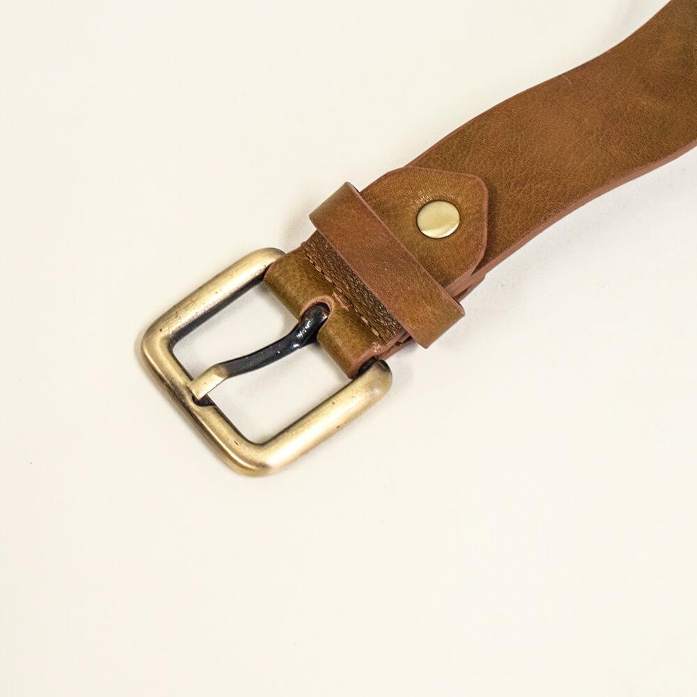 牛革ベルト ベジタブルタンニンレザー Brown 3cm 【名入れ可】