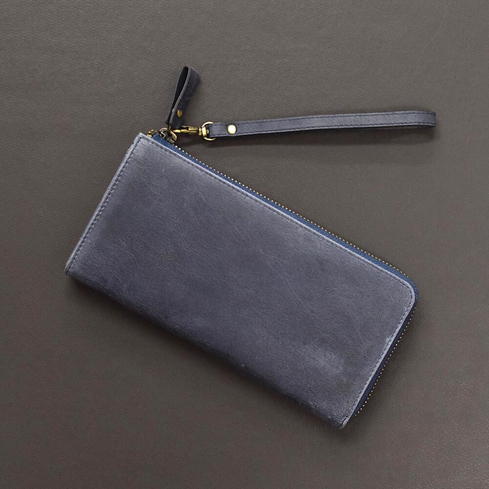 ハンドストラップ TIDY 財布引き手 本革 ナスカン