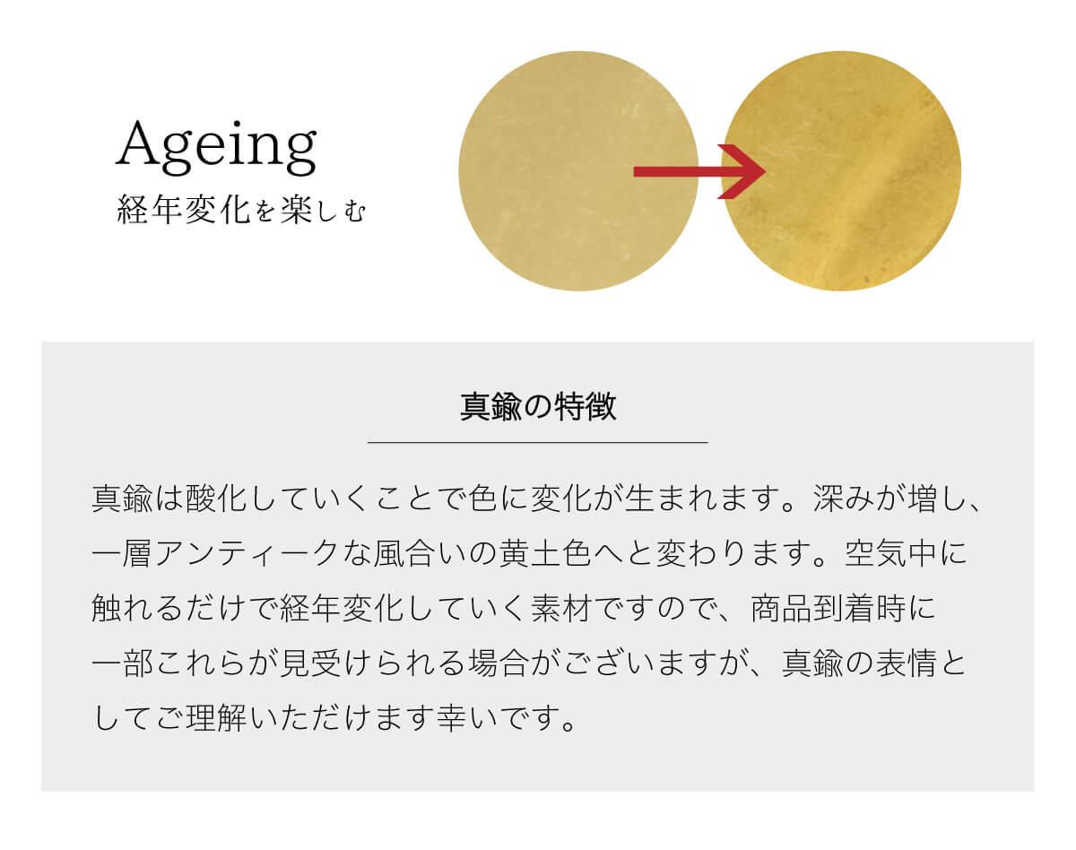 真鍮 キーフック キーホルダー 3連キーリング【JAPAN FACTORY】