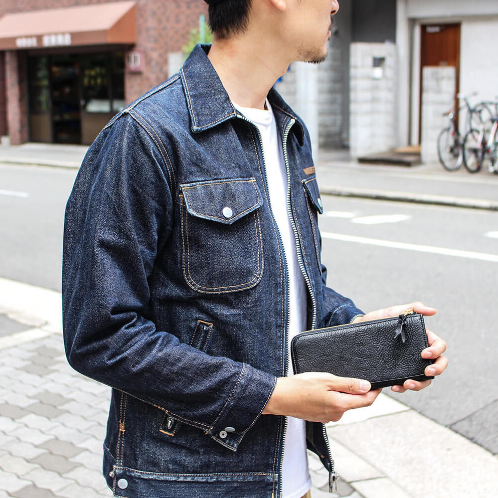 栃木レザーL字長財布 Choco 国産本革【JAPAN FACTORY】
