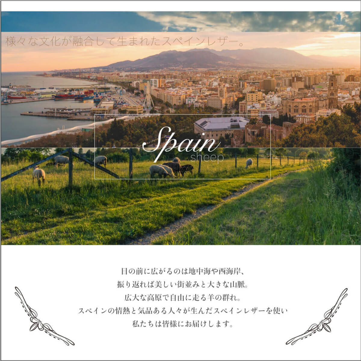 Polka スペインレザー ロングストラップ【ToocTooc】