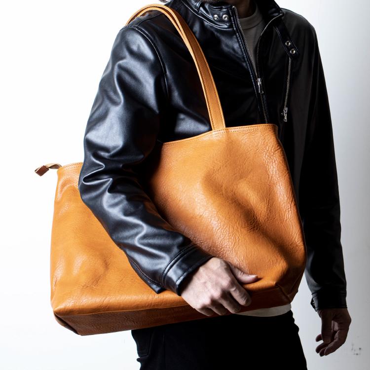 栃木レザートートバッグ Choco 国産本革【JAPAN FACTORY】