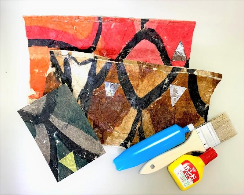 夏休みの工作におすすめ!★お取り寄せ★牛乳パックと蛇胴古紙で作る鉛筆立てキット