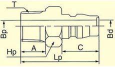 ハイカプラ プラグ30PM(メネジ取付用)