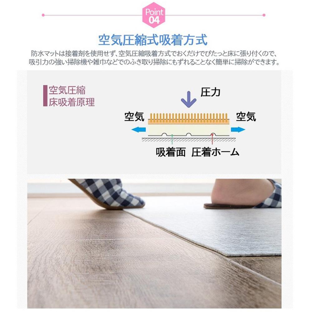 ペットマット  おくだけ吸着 滑り防止 防水マット Mサイズ 60x180cm 厚み約2mm 足腰の負担軽減 床マット  カーペット すべり止め  床暖房対応 日本製