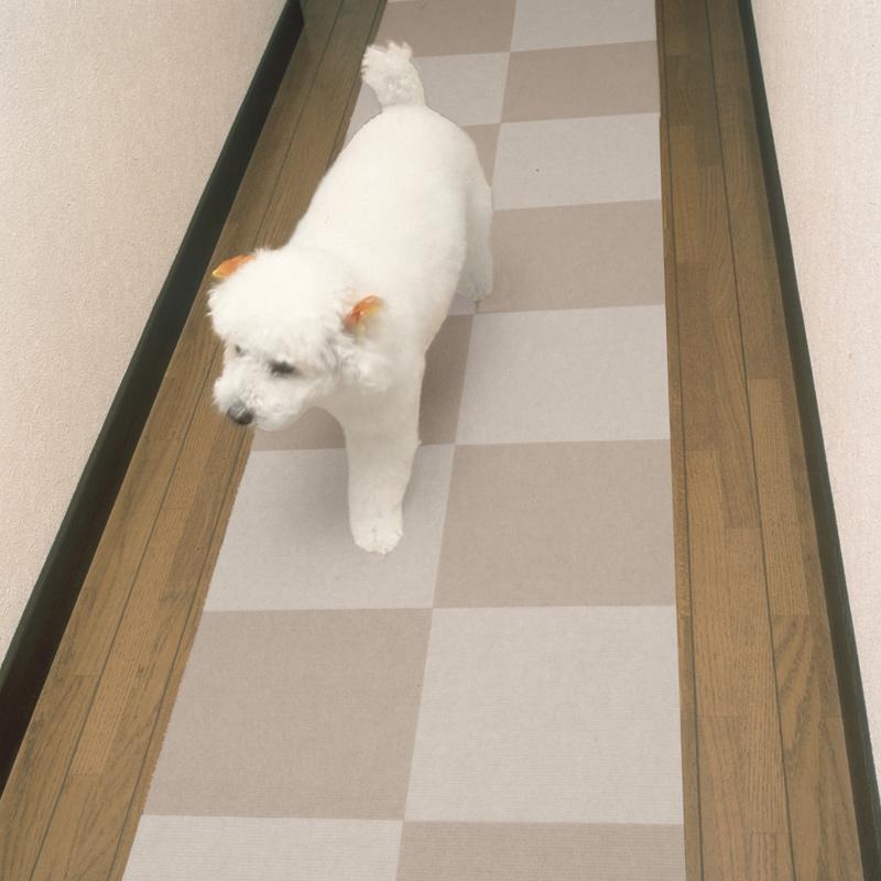 ペットマット おくだけ吸着  犬用 バイアフリー タイルマット 1枚 30×30cm 厚み約3mm 床暖房対応 犬 フローリング 滑り防止 防滑 滑り止め 犬 床保護マット カーペット 日本製