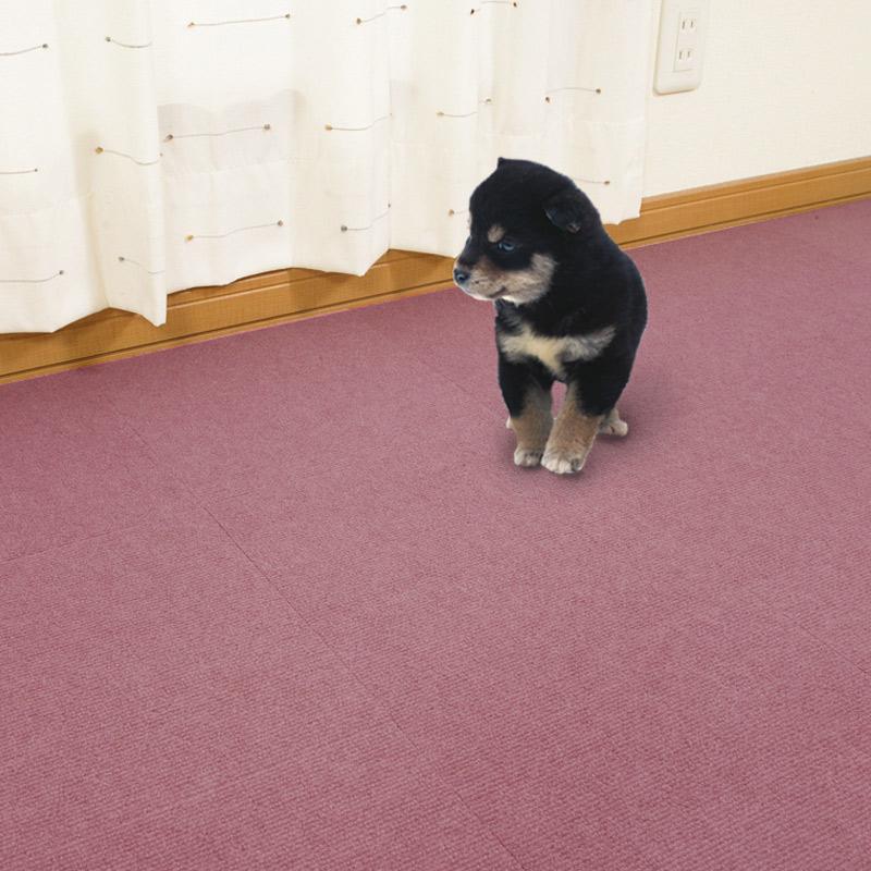 ペットマット おくだけ吸着 タイルマット 50枚  30x30cm 厚み約4mm 撥水 滑り防止  11色 ペットの足腰の負担軽減 犬用 マット 日本製