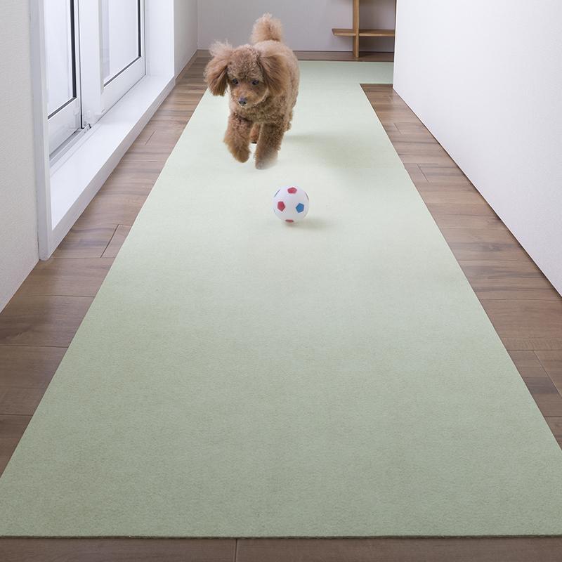 ペットマット おくだけ吸着 おそうじラクラクマット 毛がからまりにくい 滑らない ペット用 マット 60×120cm 犬用 カーペット 滑り止め 日本製