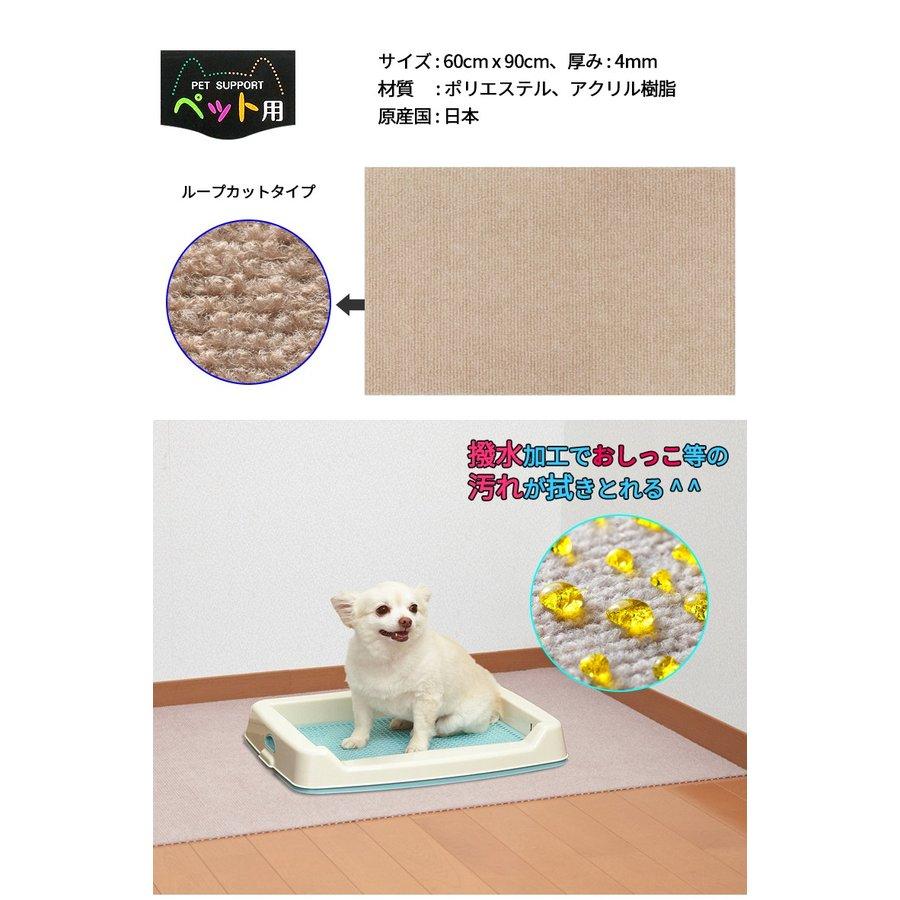 おくだけ吸着 ペット用トイレ下敷きマット 60x90cm 約4mm  トレー 消臭 洗える 犬 おしっこ 飛び散り防止 日本製
