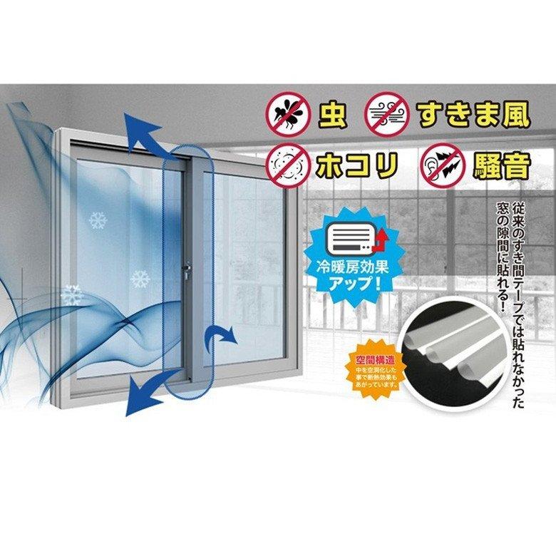 スキマプロテクト  Dタイプ Sサイズ 0.6x240cm  虫対策 防寒対策 隙間テープ すき間 ストッパー すきまテープ すきま風 防止テープ ドア