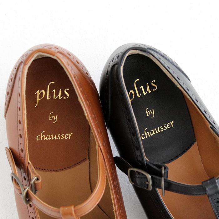 plus by chausser プリュス バイ ショセ Tストラップパンプス PC-5054 レディース 靴