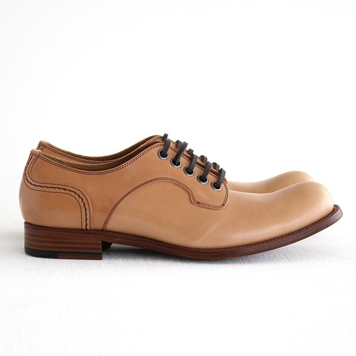 chausser ショセ ナチュラルコードバン プレーントゥレースアップシューズ C-740  メンズ 靴