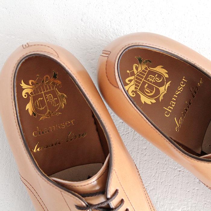chausser ショセ ナチュラルコードバン プレーントゥレースアップシューズ C-7930 メンズ 靴